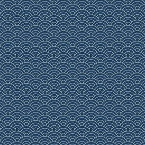 Small Japanese-Style Ripple - Light on Dark Blue