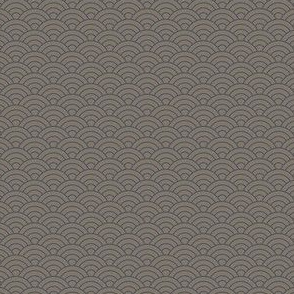 Small Japanese-Style Ripple - Purple on Grey
