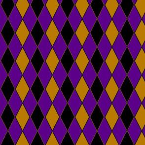 argyle remix purple gold and black