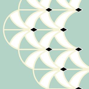 Mint Art Deco Large Scale