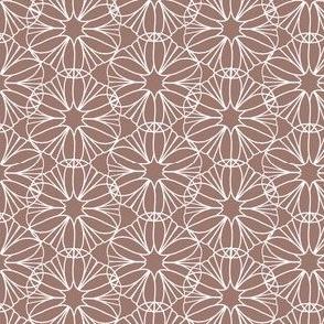 Peach and White Mandala Flowers