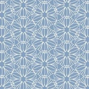 Blue and White Mandala Flowers