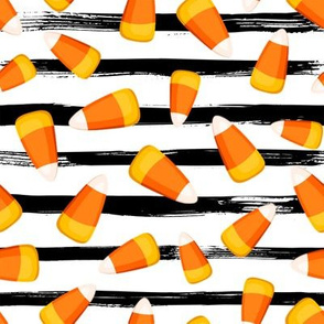 "8"" Candy Corn // Black and White Stripes"