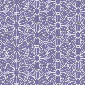 Violet Purple and White Mandala Flowers