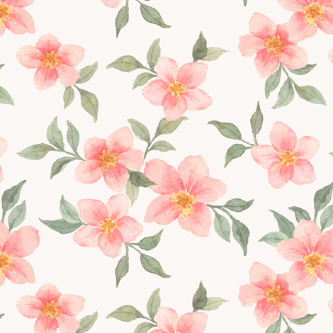 Pink Blossom fabric by mintpeony on Spoonflower - custom fabric