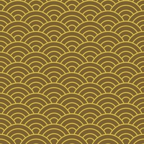 Japanese-Style Ripple - Brown and Gold