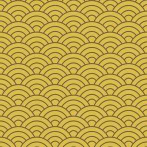 Japanese-Style Ripple - Brown on Gold
