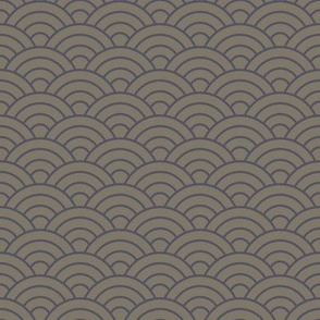 Japanese-Style Ripple - Purple on Grey