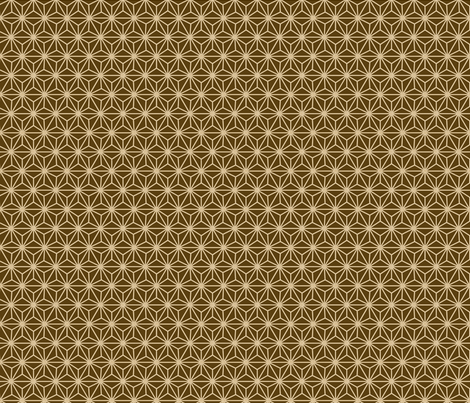 Small Six-Pointed Flower with Dots Brown fabric by ameliae on Spoonflower - custom fabric
