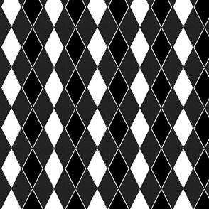 argyle remix black gray and white