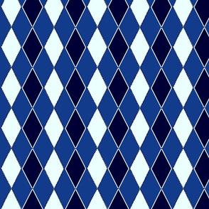 argyle remix blue and white
