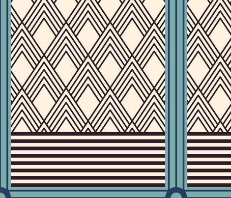 Art Deco Composition fabric by mongiesama on Spoonflower - custom fabric