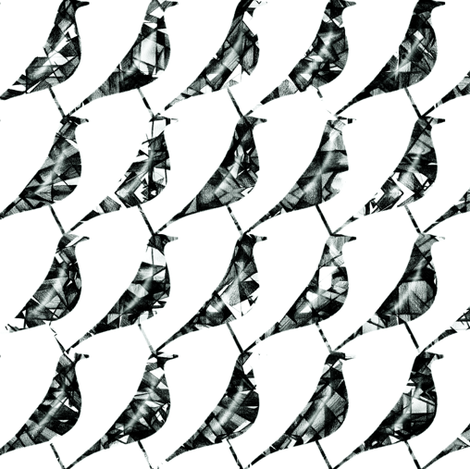mono-CROW-m houndstooth fabric by booboo_collective on Spoonflower - custom fabric