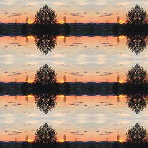 Filigree Tree Trippy Bonanza sunset