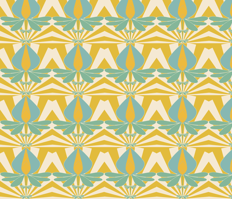 Lotus fabric by mememe on Spoonflower - custom fabric