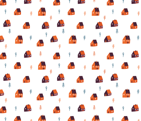 Forest cabin fabric by tasiania on Spoonflower - custom fabric