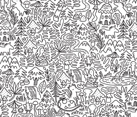 Unicorn_nature_pattern_shop_preview