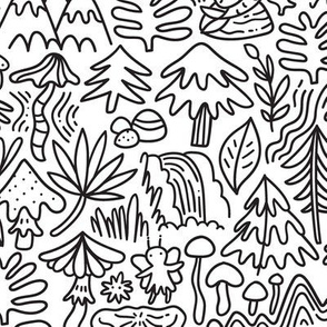 Unicorns, dragons, mermaids doodle design. Dreamy fabric. Fabled pattern.