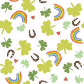 St Patrick's day clover and rainbows