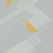 Graphic Mountains (border print)