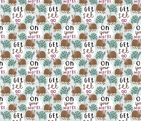 On your marks... fabric by stamptout on Spoonflower - custom fabric