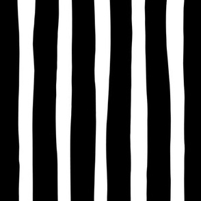 Basic vertical stripes monochrome circus theme black and white