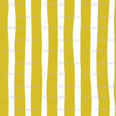 Basic vertical stripes monochrome circus theme mustard yellow
