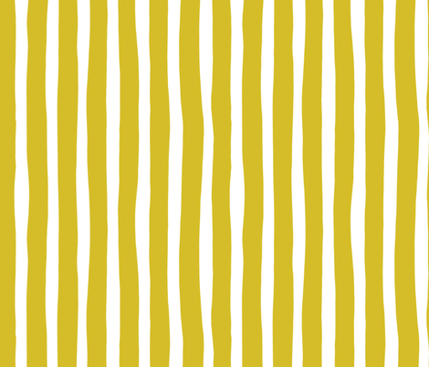 Basic vertical stripes monochrome circus theme mustard yellow fabric by littlesmilemakers on Spoonflower - custom fabric