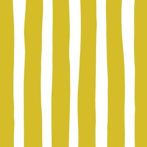 Basic vertical stripes monochrome circus theme mustard yellow