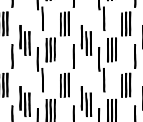 Basic stripes and strokes monochrome circus theme black and white  fabric by littlesmilemakers on Spoonflower - custom fabric