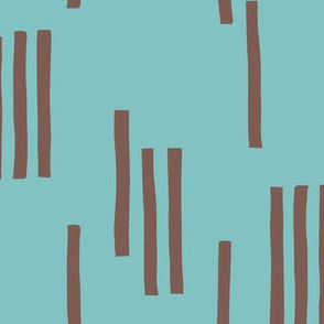 Basic stripes and strokes monochrome circus theme blue and bark brown