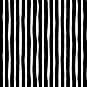 Basic vertical stripes monochrome circus theme black and white Small