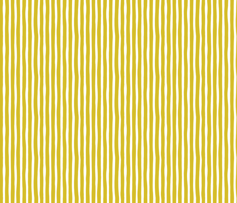 Basic vertical stripes monochrome circus theme mustard yellow SMALL fabric by littlesmilemakers on Spoonflower - custom fabric