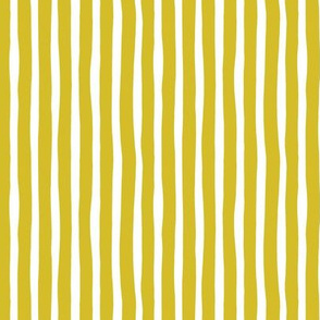 Basic vertical stripes monochrome circus theme mustard yellow SMALL