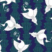 Art Deco Birds Design Larger