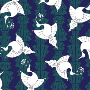 Art Deco Birds Design Larger