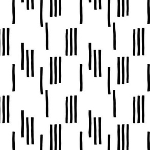 Basic stripes and strokes monochrome circus theme black and white  SMALL