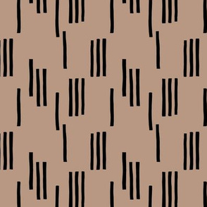 Basic stripes and strokes monochrome circus theme black and taupe  SMALL
