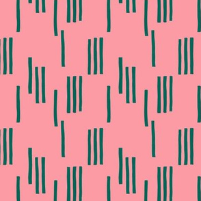 Basic stripes and strokes monochrome circus theme green pink SMALL