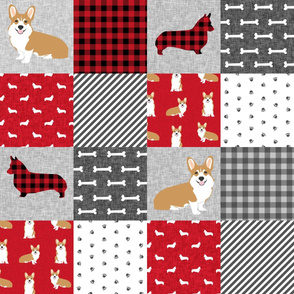 corgi a cheater quilt dog breed nursery fabric welsh corgis