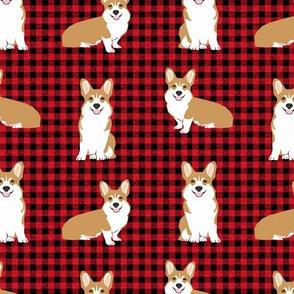 corgi plaid quilting coordinates a corgis dog breed fabric 1