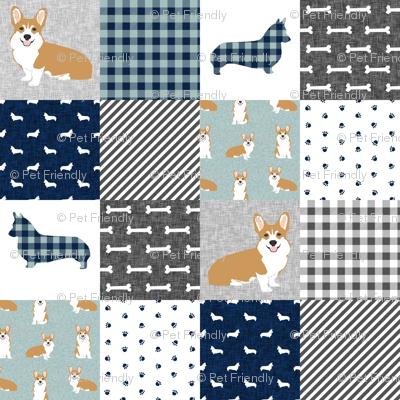 corgi cheater quilt b dog breed corgis fabric
