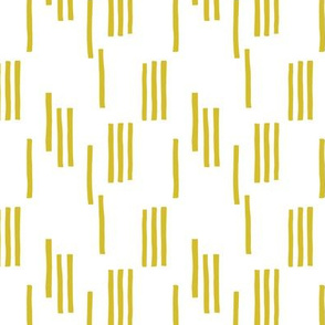 Basic stripes and strokes monochrome circus theme yellow SMALL
