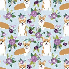 corgi c quilting coordinates dog breed florals fabric