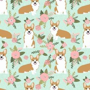 corgi d quilting coordinates dog breed florals fabric