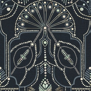 Ornamental Beaded Deco {Midnight}