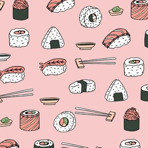sushi // japanese food cute kawaii fabric international cuisine millenium pink