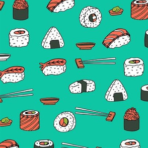 sushi // japanese food cute kawaii fabric international cuisine jade