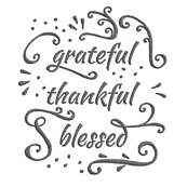 "grateful • thankful • blessed (6x6"" burlap-texture)"