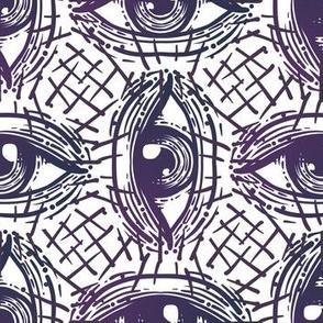 Navy Eyes Pattern